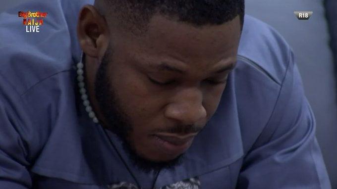 BBNaija: How Frodd Reacted To Esther's Eviction (Photos/Video)