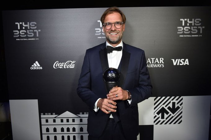 Liverpool's Jurgen Klopp Crowned FIFA Best Coach For 2019