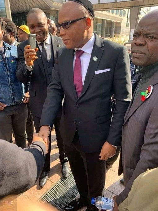 Nnamdi Kanu EU 1 - Breaking: Nnamdi Kanu Arrives European Parliament To Discuss Biafra Referendum (Photos)