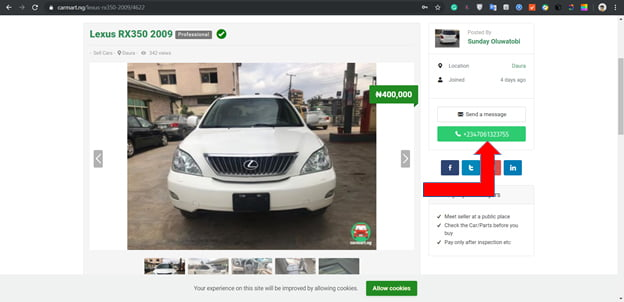 img6 - Where and How to Buy and Sell a Cars on Carmart Nigeria