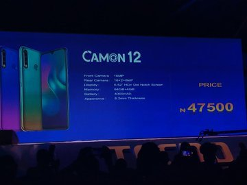 tecno price - A New CAM*ERA Emerges As Tecno Launches Camon 12 Series