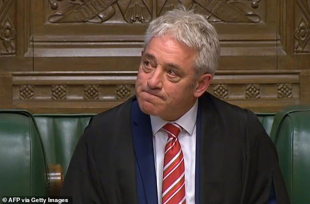 20398390 7632503 image a 21 1572472144636 - UK's House Speaker, John Bercow Steps Down