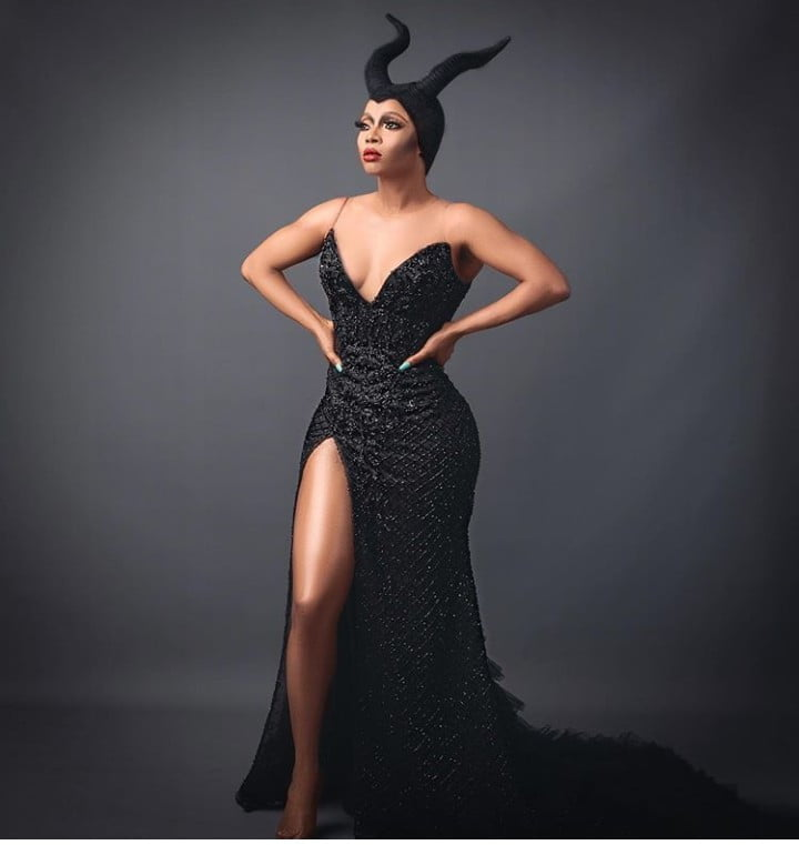 5dbaa71002c45 - Toke Makinwa Rocks Maleficent Costume For Halloween (Photos)