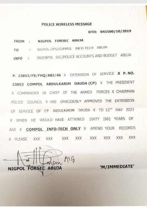 Abdulkarim Dauda Daura - President Buhari Extends His Nephew's Stay In The Police Force