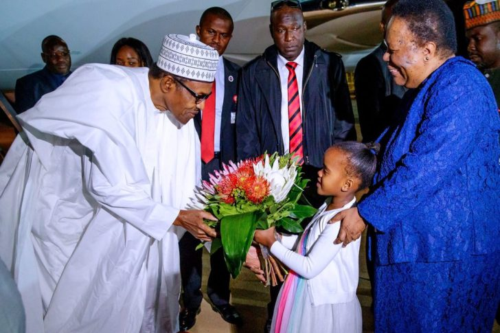 Buhari In South Africa 3 - Xenophobic Attack: President Buhari Arrives South Africa (PHOTOS)