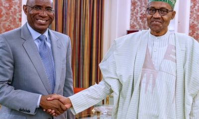 Just In: Buhari In Closed-Door Meeting With Deputy Senate President Omo-Agege