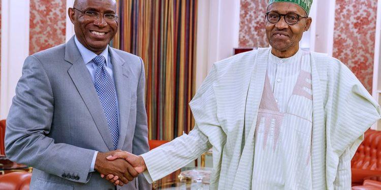 Just In: Buhari In Closed-Door Meeting With Deputy Senate President Omo-Agege