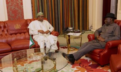 Just In: Buhari, Jonathan In Closed-Door Meeting In Aso Rock
