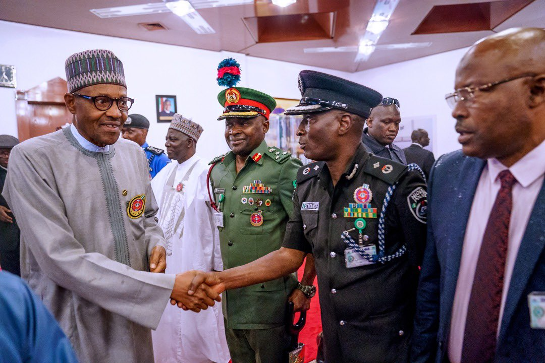 Just In: President Buhari Returns To Abuja (Photos)