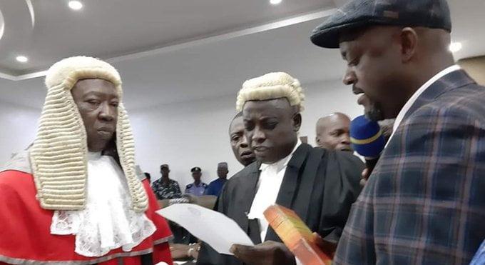 EHZMXhpWkAAFwy2 - Just In: Edward Onoja Sworn In As Kogi Deputy Governor