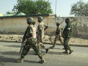 Nigerian Troops in actions 2 300x225 - Boko Haram: Troops Kill Five Terrorists, Rescue 7 Victims In Borno