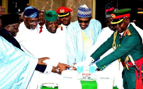 PIC 4 INDEPENDENCE ANNIVERSARY 1 600x375 - Nigeria @59: Independence Day Celebration Holds Inside Aso Rock Villa (Photos)