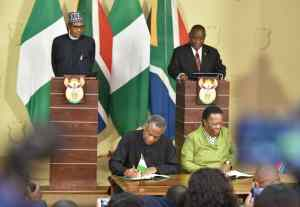 WhatsApp Image 2019 10 03 at 2.23.43 PM 1 - Picture Story: Nigerian Government Signs 32 Bilateral Agreement With South Africa