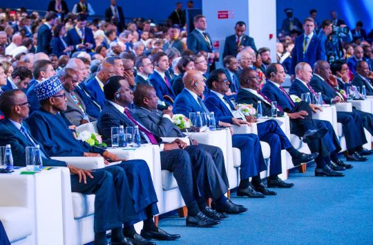 russia2 - Buhari Meets Putin, Other African Leaders In Russia (Photos)