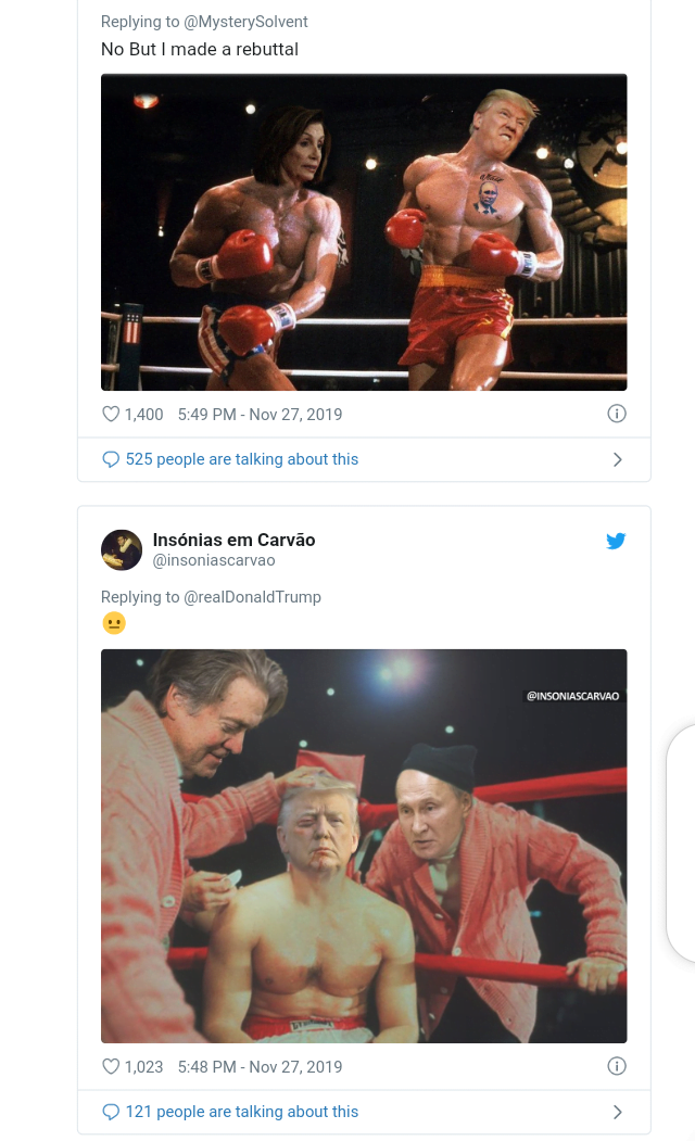 5ddfa34e09e9d - Funny Comments Trail Trump's Posts Of His 'Photoshop' Face On Rocky Balbao Body