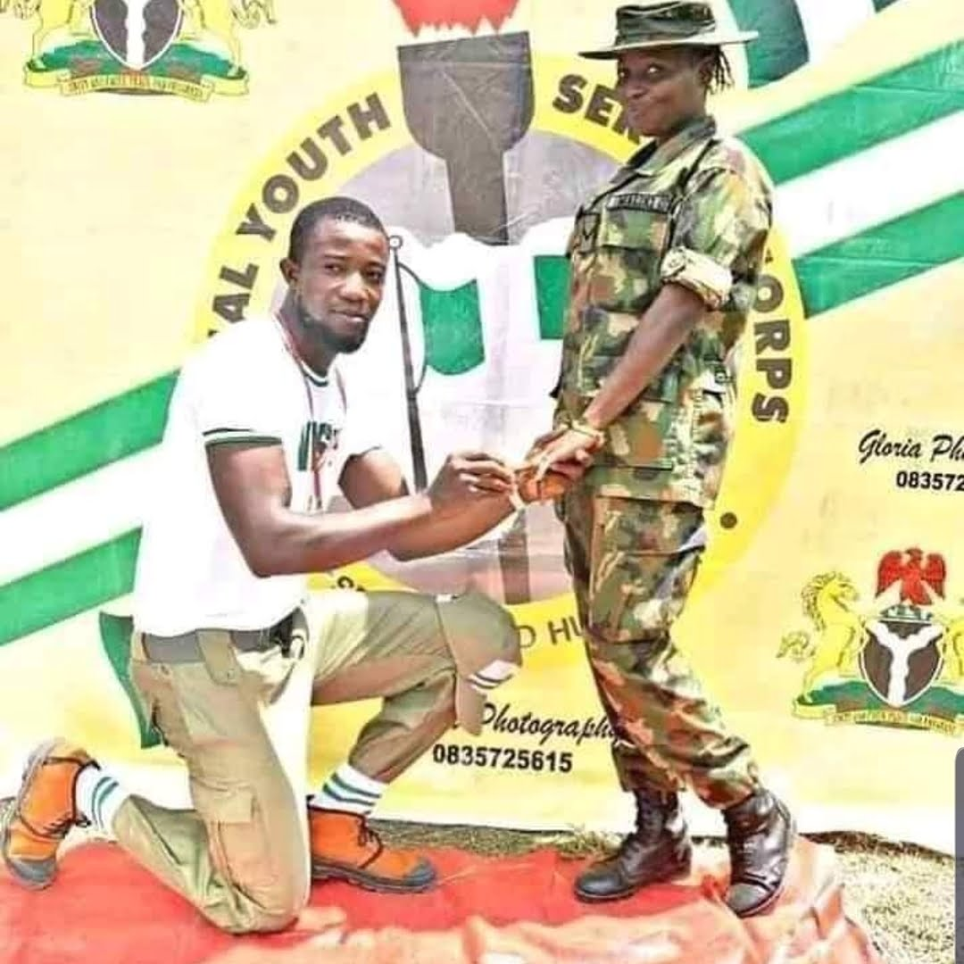 74599485 192518475242503 4725201968310982065 n - NYSC: Corp Member Proposes To Female Soldier After Three Weeks In Camp