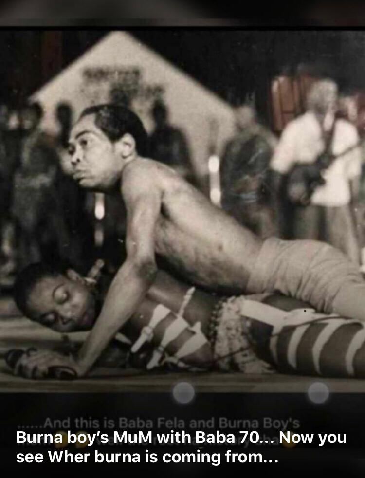 Fela Bose ogulu - Trending Photo Of Fela With Burna Boy's Mother Leaves Fans Guessing Who Burna Boy's Father Is