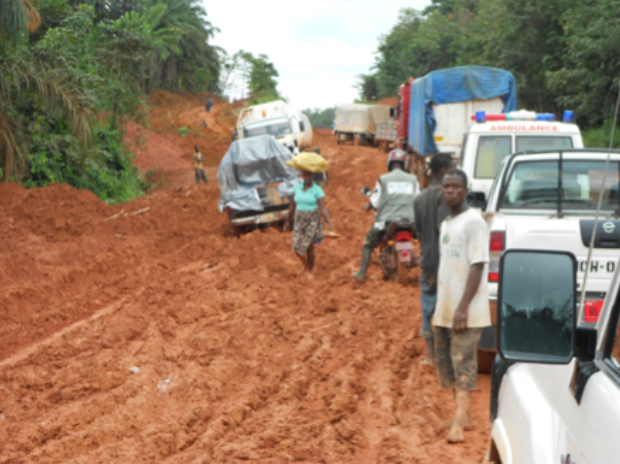 Liberia Bad Road2 - Exposed! PDP Displayed Bad Roads In Liberia To Mock Fashola, See Photos
