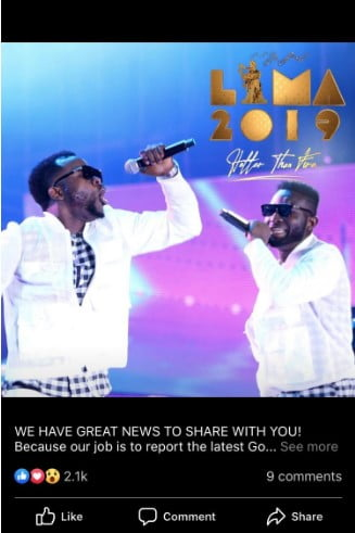 LoveWorld hitmakers Ur Flames performed and took home the award for 'Hit Song of the Year' at LIMA 2018