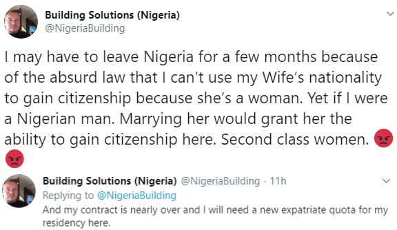 5def53b4cd78a 1 - White Man Laments Difficulty In Getting Nigerian Citizenship, See Why