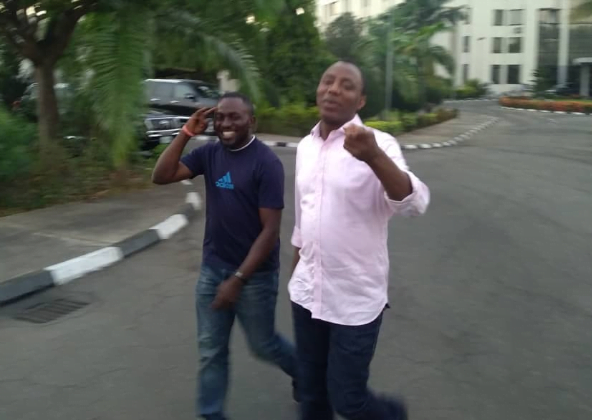 5e024a23d1821 - See Photos Of Sowore As He Leaves DSS Quarters