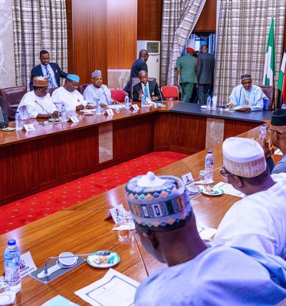 President Buhari Meets APC Governors In Aso Rock