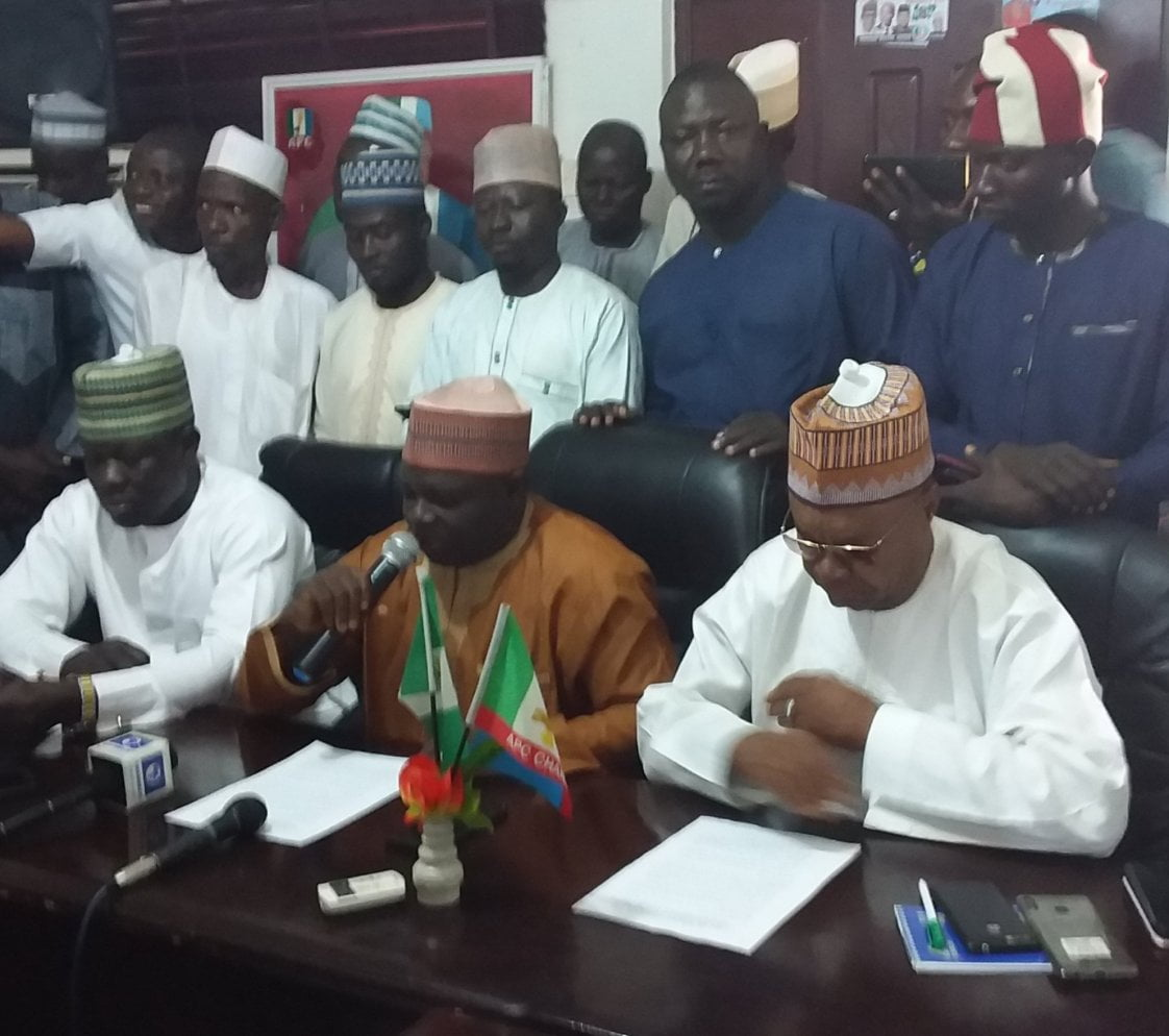 APC briefing - LG Election: Adamawa APC Candidates Blasts Gov. Fintiri For Not Constituting Petition Tribunal