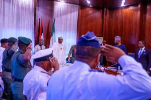 Just In: Buhari Bombs Service Chiefs After Meeting In Aso Rock