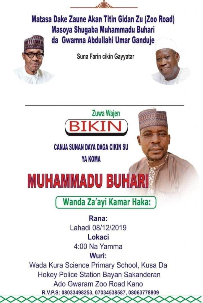 New Buhari 2 - Disenchantment: Man changes name from Buhari to Sulaiman in Katsina