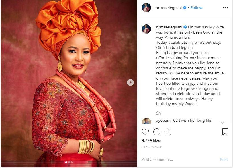 lagos monarch saheed elegushi celebrates second wife on birthday 3 - Oba Saheed Elegushi Celebrates Second Wife On Her Birthday