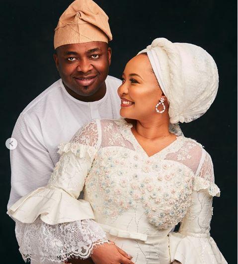 lagos monarch saheed elegushi celebrates second wife on birthday - Oba Saheed Elegushi Celebrates Second Wife On Her Birthday