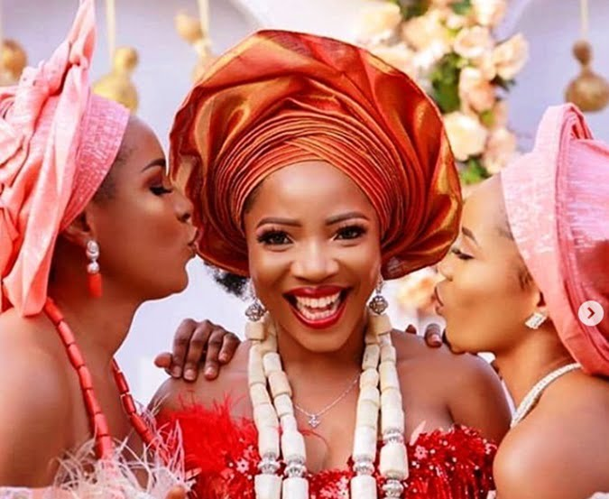linda ikeji shares stunning photos from sister sandra s traditional wedding - See Photos From Linda Ikeji's Sister's Traditional Wedding