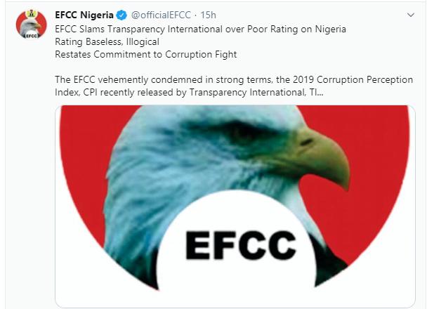5e2ae29f4e305 - Nigerians Mock EFCC Over 'Stolen' Eagle On Its Logo