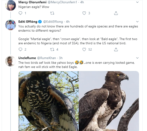 5e2ae36349416 - Nigerians Mock EFCC Over 'Stolen' Eagle On Its Logo