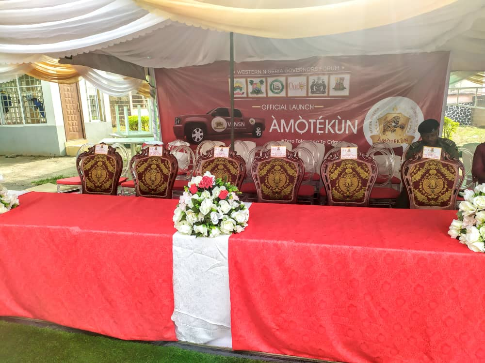 Amotekun 3 - Sanwo-Olu, Oyetola Absent As Operation 'Amotekun' Was Launched In Ibadan