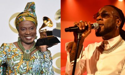 Burna Boy and Angelique Kidjo