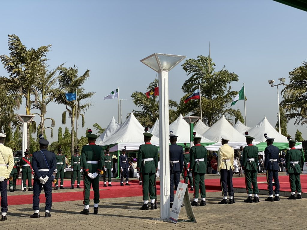 Armed Forces Rememberance Day3 - Armed Forces Remembrance Day: President Buhari Lays Wreath To Celebrate Fallen Heroes (Pictures & Video)