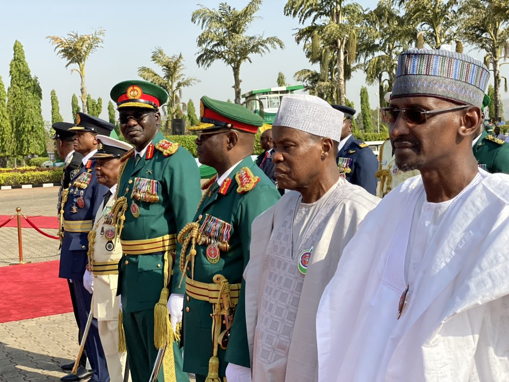 Armed Forces Rememberance Day5 - Armed Forces Remembrance Day: President Buhari Lays Wreath To Celebrate Fallen Heroes (Pictures & Video)
