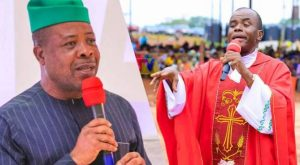 Ihedioha and Mbaka 300x165 - Imo: Ihedioha Speaks On Mbaka Apologising To Him