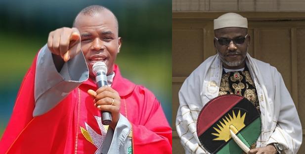 Biafra: Nnamdi Kanu Bombs Father Mbaka Over Prophecy On Ihedioha, Hope Uzodinma