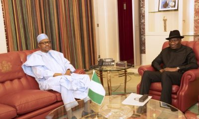 JUST IN: Buhari, Jonathan In Closed-door Meeting