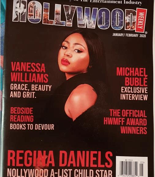 Regina dan - Regina Daniels Bags New Award, Appears On Hollywood Magazine