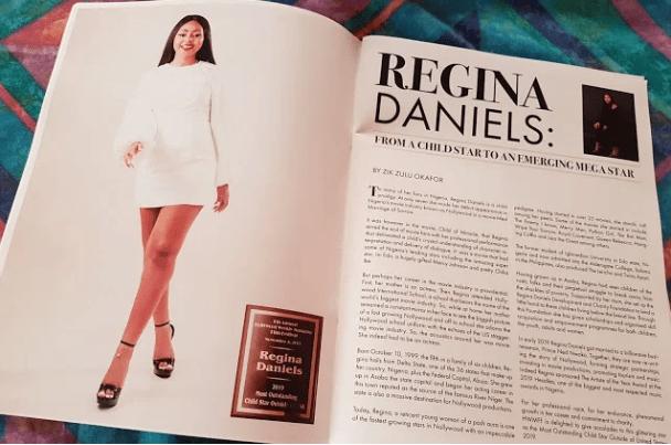 Regina dan2 - Regina Daniels Bags New Award, Appears On Hollywood Magazine