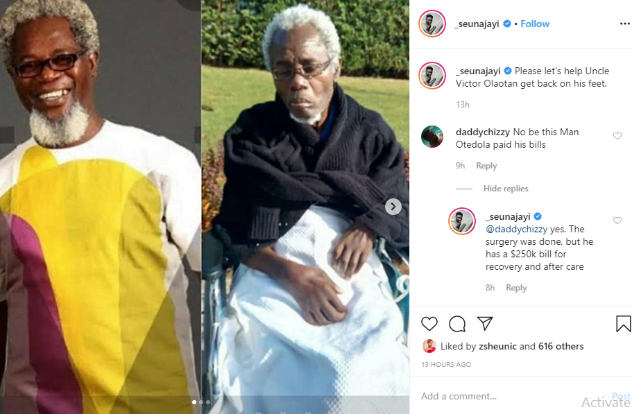 Seun Ajayi - New Photos Of Veteran Actor, Victor Olaotan Will Leave You In Shock