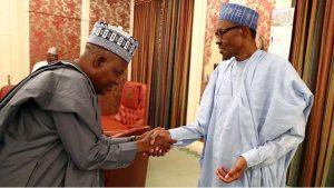"Shettima and Buhari 300x169 - ""Well Informed Decision"" – Shettima Commends Buhari On New Service Chiefs"