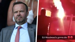 ed woodward manchester united firebomb split 17s07pihxj7d41smo69ok7a3qx 300x169 - Ed Woodward: Manchester United Executive Vice-Chairman's Home Almost Got Destroyed By Fans