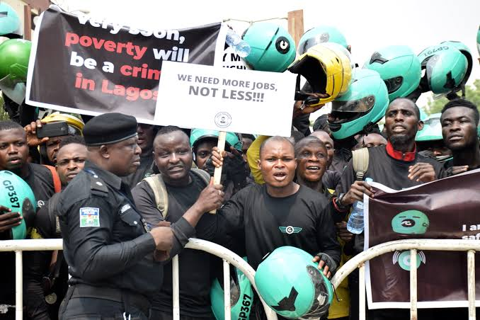 images 1 - Okada Ban: Max, Gokada Riders Protest In Lagos