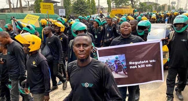 images - Okada Ban: Max, Gokada Riders Protest In Lagos