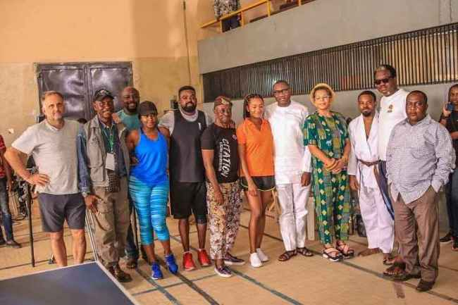 otedola family - Otedola, Wife Takes Support To Another Level, Visit Temi On Movie Set
