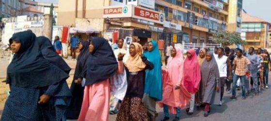 soleimani shiites protest in abuja burn us flag photos 1 - US Vs Iran: Shiites Protest Angrily, Burn US Flag In Abuja